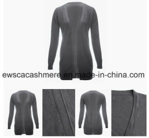 Grey Color Ladies Long Cashmere Knitwear pictures & photos