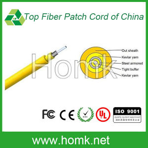 Indoor Fiber Cable (Single-fiber Armored GJFJV) pictures & photos