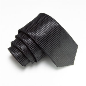 Men Fashion Plaid Design Narrow Polyester Tie (WH07) pictures & photos