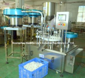 Automatic Hair Cream Rotary Filling Capping Machine for Plastic Bottles pictures & photos