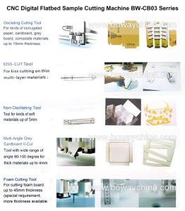 CB03 Plotting Kiss-Cut V-Cut Carton Box Rubber Cardboard Foam Flatbed CNC Sample Cutting Machine pictures & photos