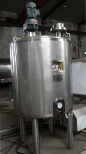 Stainless Steel Mixing Storage Tank with Emulsifier and Agitator