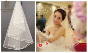 2015 New Short Section of Korean Simple Single Wedding Veil pictures & photos