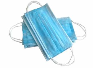 Disposable Medical Supplies Non Woven 3 Ply Earloop Face Mask pictures & photos