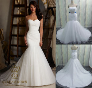 Mermaid Long Real Sample Bridal Gowns Organza Wedding Dresses pictures & photos