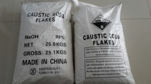 Naoh 99% Caustic Soda Flakes pictures & photos