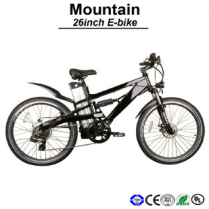 36V10ah Ergonomic Frame Design Mountain Electric Bike for Man Cool Suspension E-Bicycle (TDE05Z) pictures & photos