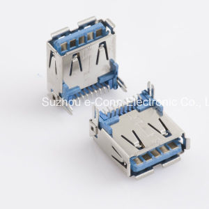USB 3.0 Type ′a′, Right Angle, SMT, Receptacle, Usbx-A9fx-Xxm0-01 pictures & photos