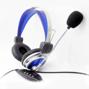 Cheap USB Laptop/Desktop/Computer Portable Headphone with Microphone pictures & photos