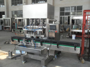 High Efficiency Glass Bottled Oil Piston Filling Machine in Stainless Steel pictures & photos