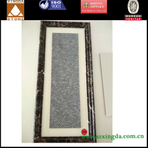 Grey Marble Waterjet Commercial Wall Mosaic Tile Building Material