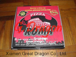 Locking Corners Pizza Box for Stability and Durability (PIZZ014) pictures & photos