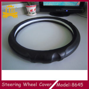 Black Soft Lambskin Car Steering Wheel Covers