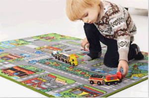Kids Play Blanket of City
