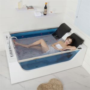 luxury mini small corner whirlpool bathtub with different color seat