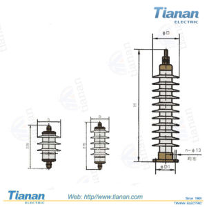 HY5W Series AC composite coat metal oxide surge arresters without gaps pictures & photos