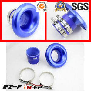 Alloy RAM Pipe Air Inlet Intake Funnel Duct 3/3.5inch Blue