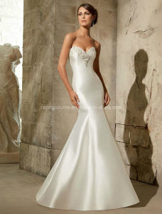 Beaded Taffeta Bridal Gown Mermaid Wedding Dresses pictures & photos