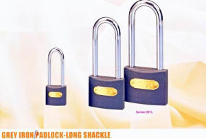 Grey Iron Padlock-Long Shackle pictures & photos