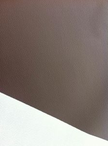 Brown Embossed PVC Leather for Handsome Man′s Wallet! pictures & photos