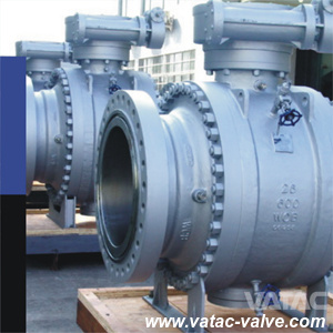 A216 Wcb/Lcb/Wc9/CF8/CF8m Trunnion Ball Valve with RF Ends pictures & photos