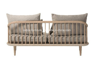 (SD-6005-2) Modern Style Hotel Living Room Leisure Wooden Fabric Sofa Set pictures & photos
