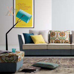 Fabric Sofa with Colorful Cushion (1613) pictures & photos