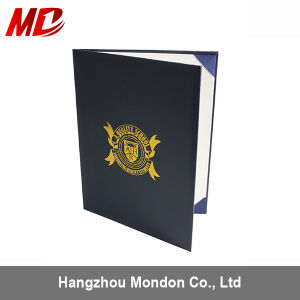 Navy Blue Leatherette Graduation Diploma Holder with One Moire-Book Style pictures & photos