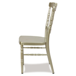 Hotel Golden Aluminum Wedding Napoleon Chair pictures & photos