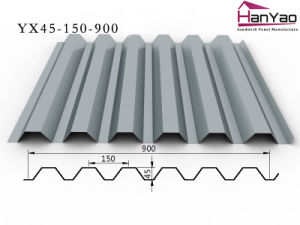 2015 New Galvanized Corrugated Steel Floor Plate Yx45-150-900 pictures & photos