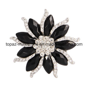Lady Fashion Jewelry Jewellery Rhinestone Brooch for Dress (TB-027) pictures & photos