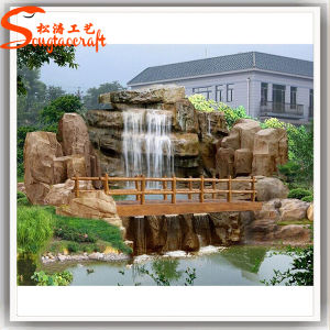 New Design Artificial Rock Waterfall Made of Fiberglass pictures & photos