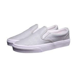 Vintage Style Plain White Leather Breathable Casual Sneakers Footwear Shoes pictures & photos