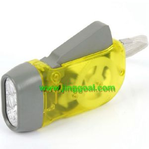 LED Flashlight with Hand Dynamo pictures & photos
