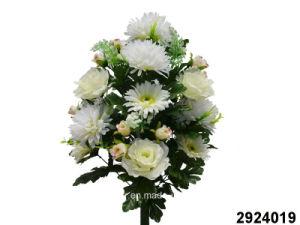 Artificial/Plastic/Silk Flower Rose/Gerbera/Chrysanthemum Mixed Bush (2924019) pictures & photos