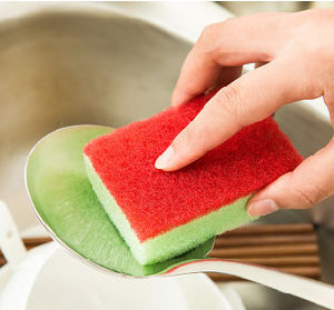 Home Use Cleaning Sponge Scouring Pad pictures & photos