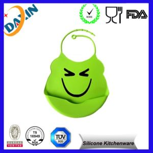 3D Silicone Rubber Adjustable Baby Washable Waterproof Baby Bibs pictures & photos