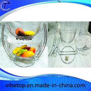Removable Metal 2 Tier Fruit Basket pictures & photos