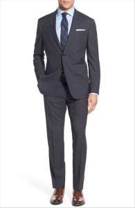 2016 OEM Men′s Slim Fit Check Classic Business Suits pictures & photos