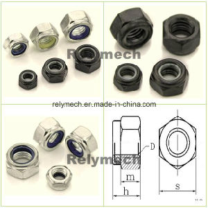 Stainless Steel/Carbon Steel Nylon Insert Hex Lock Nut pictures & photos