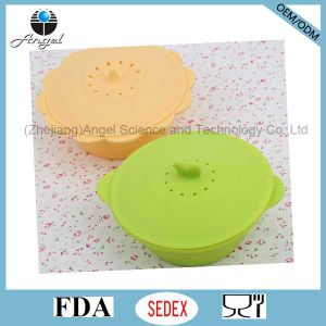 Non-Toxic Silicone Bowl with Lid, Silicone Steamer Sfb03