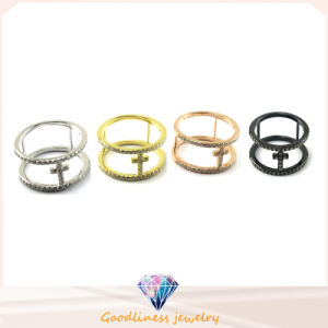 High Quality New Model Silver Ring Fashion Jewelry Cross Ring (R10198) pictures & photos