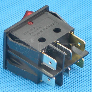 Illuminated on-off 24 Volt Rocker Switch with 2 LEDs pictures & photos