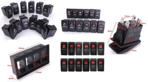5 Pins Carling Style Backlit Toggle Boat Rocker Switch pictures & photos