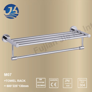 High Quality Stainless Steel Bathroom Furniture Towel Shelf Holder (M07)