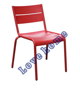 Dining Restaurant Coffee Luxembourg Stacking Metal Side Chair pictures & photos