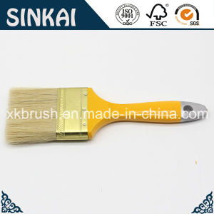 White Bristle Paint Brush with Varnished Wooden Handle pictures & photos