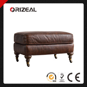 Orizeal High End Imported Top Grain Leather Sofa Ottoman (OZ-LS-2002) pictures & photos
