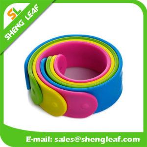 Various Sizes/Colors Eco-Friendly Candy Color Silicon Slap Bracelets pictures & photos