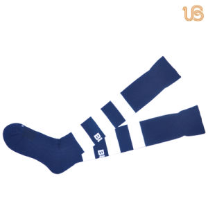 Stripe Designed Men′s Nylon Football Sock pictures & photos